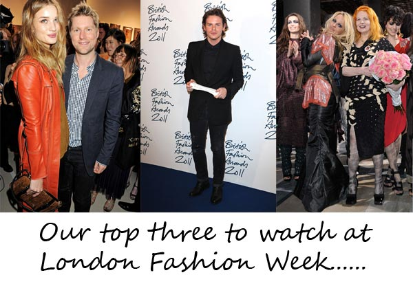 Our Top 3 to Watch at London Fashion Week!