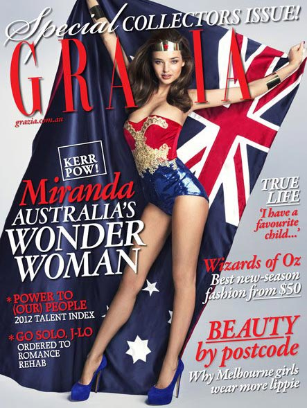 Miranda Kerr is Grazia Australia's Wonder Woman