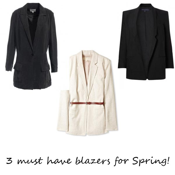 Blaze of glory: 3 must have blazers for spring!