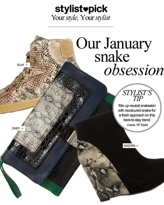Check out all the snakeskin at Stylist Pick!