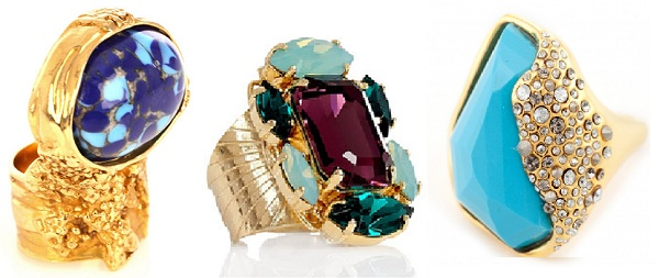 ACCESSORY ALERT: Get a dose of finger fashion with these crystal and stone rings!