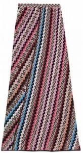 GIUNILLA CROCHET-KNIT PATTERN MAXI SKIRT