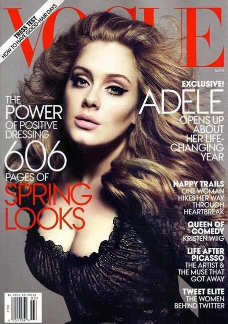 Adele's American Vogue March 2012 cover is finally here!