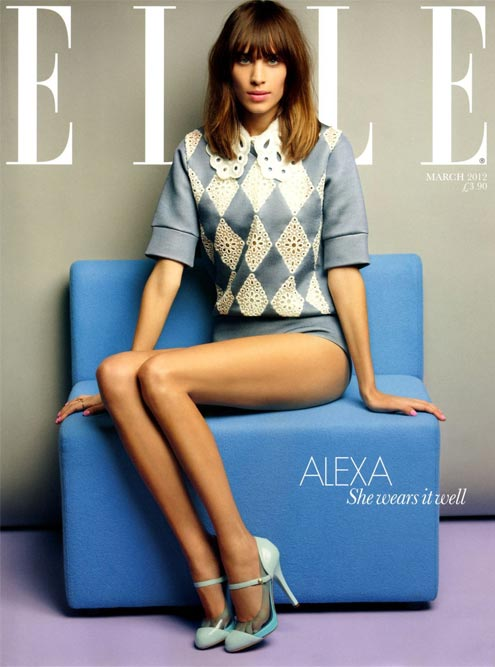Alexa Chung proves a fine choice for Elle UK March 2012