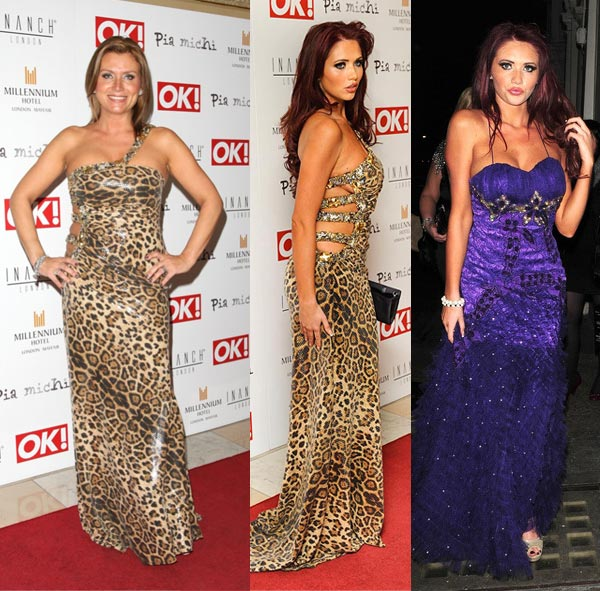 Uh oh – Amy Childs and Tricia Penrose in the same dress at the same event!