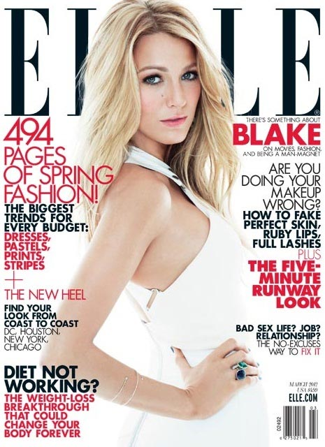 Blake Lively talks babies, boyfriends and house-hunting in the Elle US March 2012 issue