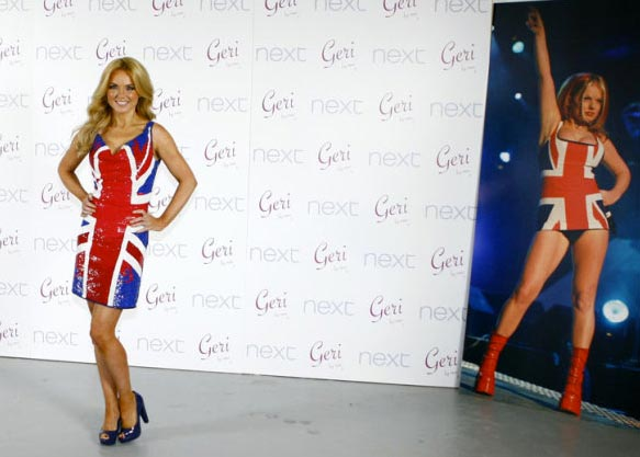 THAT Union Jack dress is back as Geri Halliwell unveils her new collection for Next!