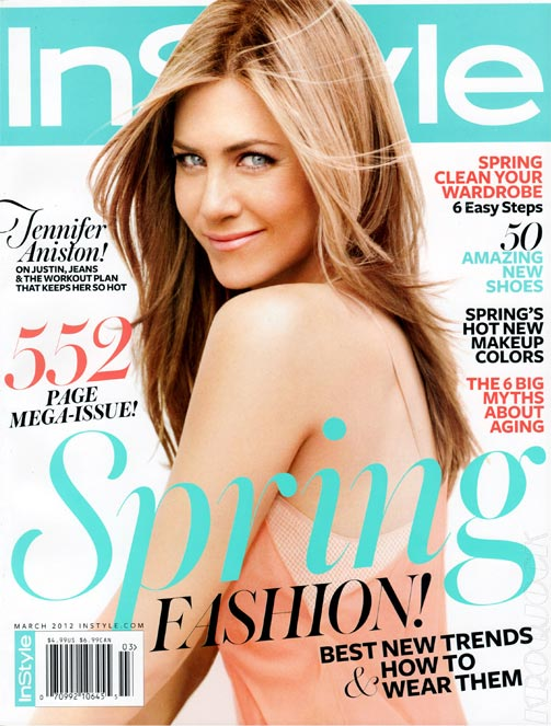 Jennifer Aniston talks to InStyle US about her body, her style, and feeling sexiest in jeans and Justin's tee