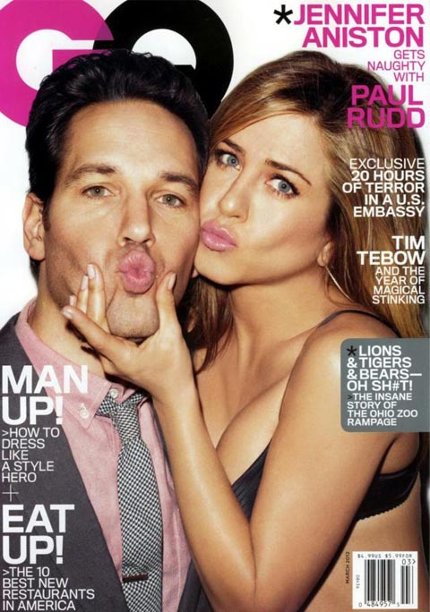 Jennifer Aniston and Paul Rudd get cheeky for Terry Richardson in American GQ