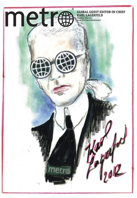"The world according to Karl Lagerfeld: ""People in magazines are 50% bimbo and 50% pregnant women,"" and other such quotes"