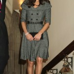 Kate Middleton wears Jesiré for her first solo engagement at the National Portrait Gallery