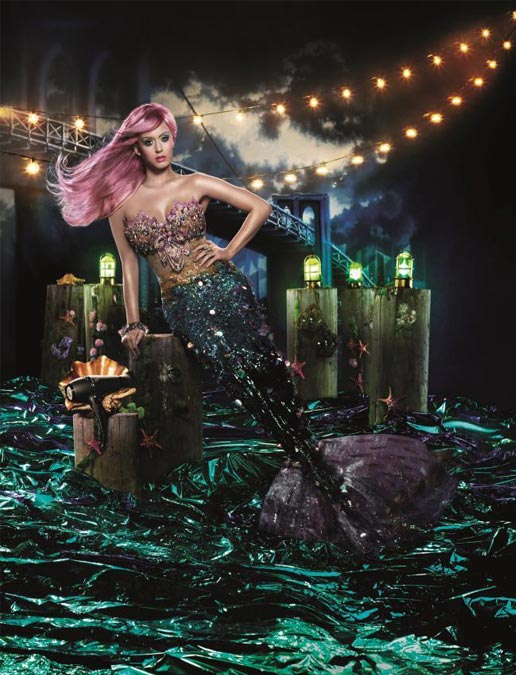 Katy Perry channels The Little Mermaid for ghd's new ad campaign