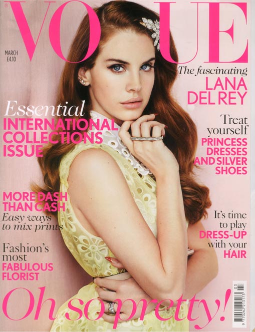 Lana Del Rey looks lovely in Louis Vuitton for British Vogue March 2012