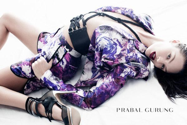 Candice Swanepoel poses for Prabal Gurung's spring/summer 2012 ads