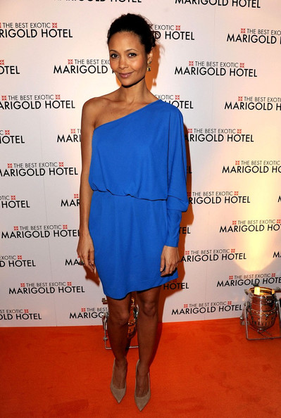 Thandie Newton steals the show in electric blue Stella McCartney