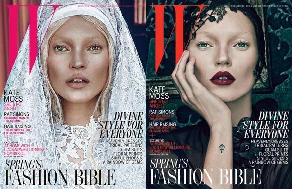 Kate Moss's good and bad sides both unleashed for W magazine