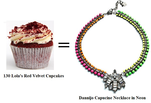 Swap your daily Lola's stop off for the Dannijo Capucine neon necklace