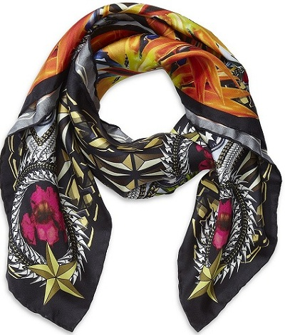 ACCESSORY ALERT: A penchant for printed silk scarves
