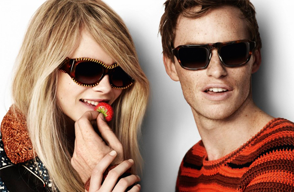 Cara Delevingne and Eddie Redmayne are back and flirtier than ever for Burberry