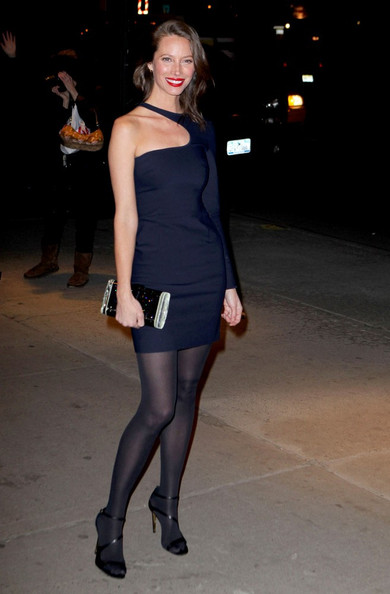 Christy Turlington rocks asymmetric Stella McCartney in New York