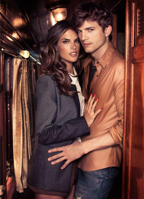 More pics from (and the making of) Ashton Kutcher and Alessandra Ambrosio's Colcci ad campaign