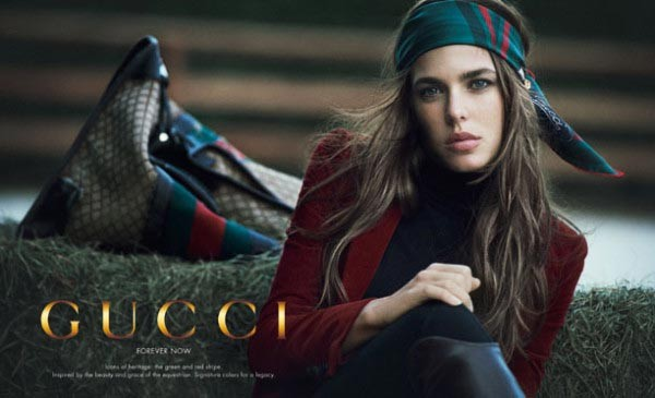 Charlotte Casiraghi for Gucci's Forever Now ad campaign