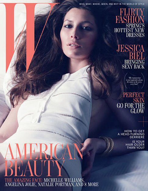"""It was always, 'Let's play sex with Barbies!'"" – Jessica Biel, W April 2012"