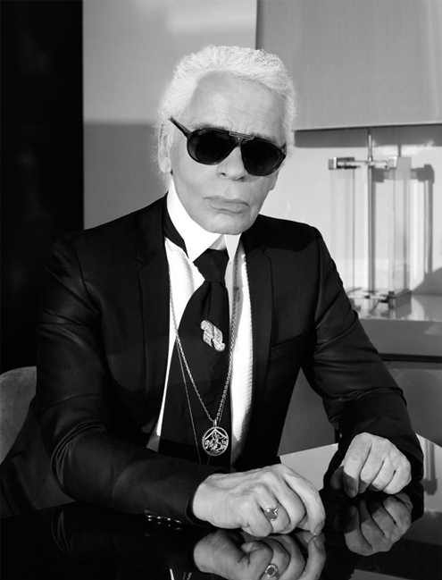 "Karl Lagerfeld: ""I sleep seven hours. I don't wake up before – the house can fall apart, but I sleep for seven hours."""