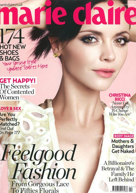 Christina Ricci covers Marie Claire UK in Louis Vuitton
