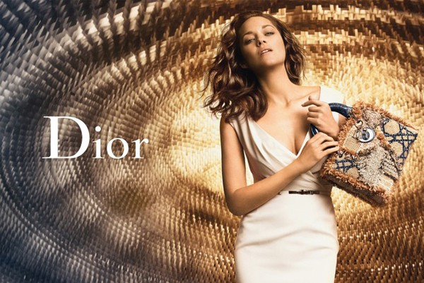 Marion Cotillard is a golden girl for the new Lady Dior ad campaign