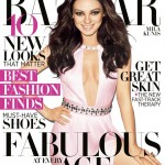 """My glass of wine and I are besties,"" Mila Kunis tells Harper's Bazaar US April 2012"