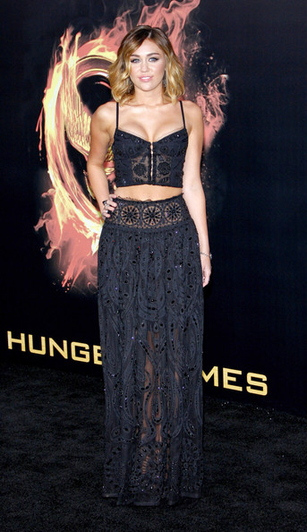 Miley Cyrus is pretty in Pucci at The Hunger Games premiere