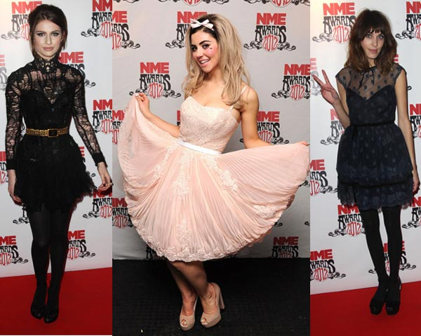 Marina Diamandis, Tali Lennox and Alexa Chung – our best dressed at the 2012 NME awards