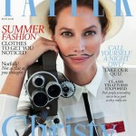 Christy Turlington and a pencil moustache cover May's Tatler
