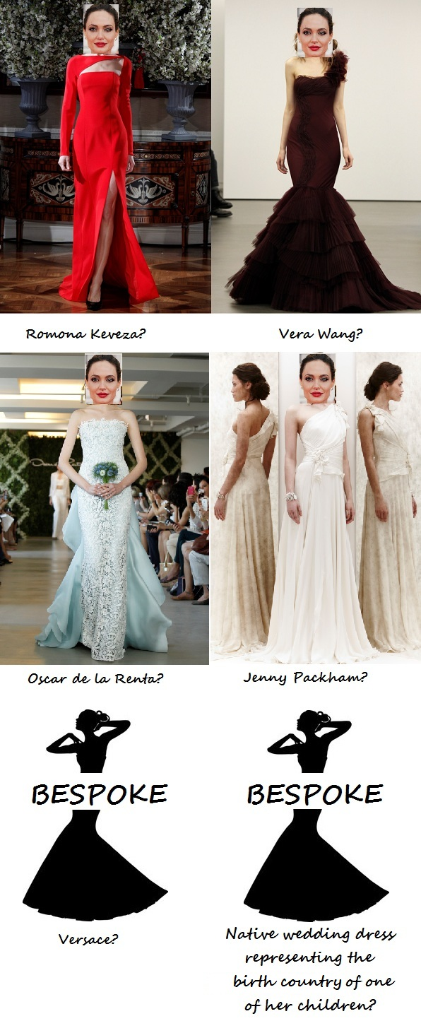 So…who will design Angelina Jolie's wedding dress?