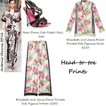 How to wear: Elizabeth and James Floral Printed Silk Pyjama Trousers
