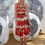 Dree Hemingway rocks the chili-pepper Dolce and Gabbana at Coachella