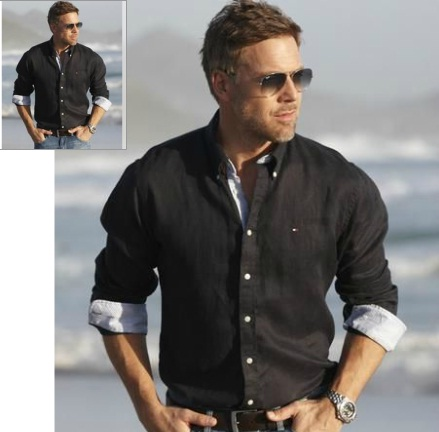 Treat him to: Tommy Hilfiger Mighty Plain Linen Shirt