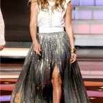 Jennifer Lopez sparkles in Lanvin on American Idol