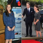 Kate Middleton steps out in Rebecca Taylor and Amanda Wakeley yesterday