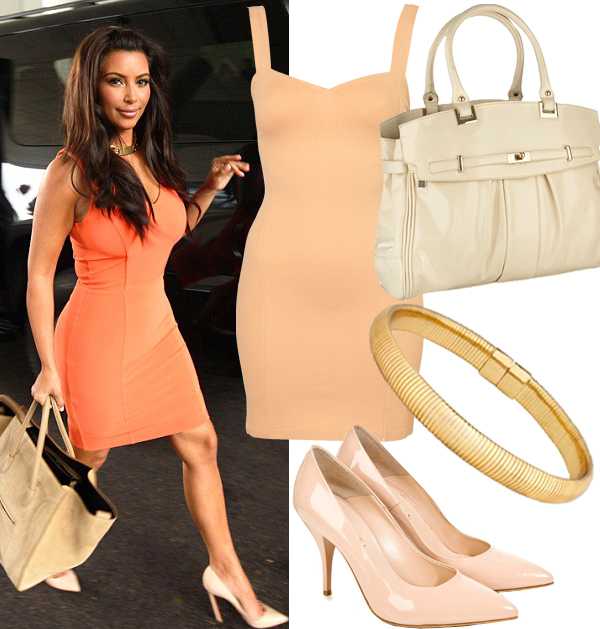 Get Kim Kardashian's all-over orange look!