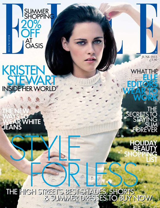 Just landed: Kristen Stewart's Elle UK June 2012 cover