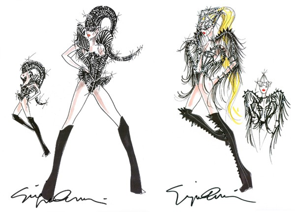 Giorgio Armani designs four costumes for Lady Gaga's Born This Way Ball Asian tour