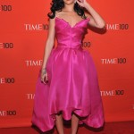 Rihanna chooses pretty pink Marchesa for the Time 100 gala