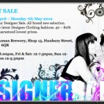 Grab your diary: Sample Hunters Designer Sample Sale