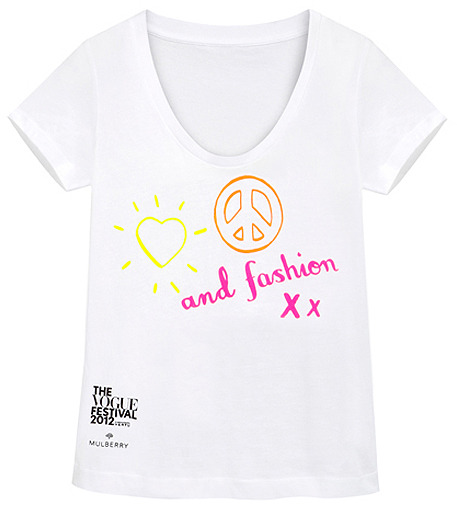 Mulberry designs official Vogue Festival T-shirt!