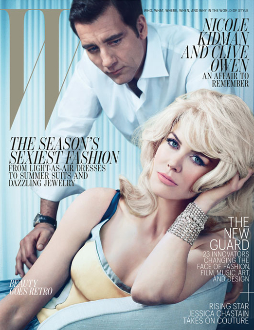 Nicole Kidman and Clive Owen pose for May's W magazine