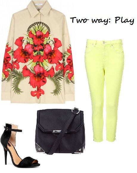 How to wear the two-way statement blouse!