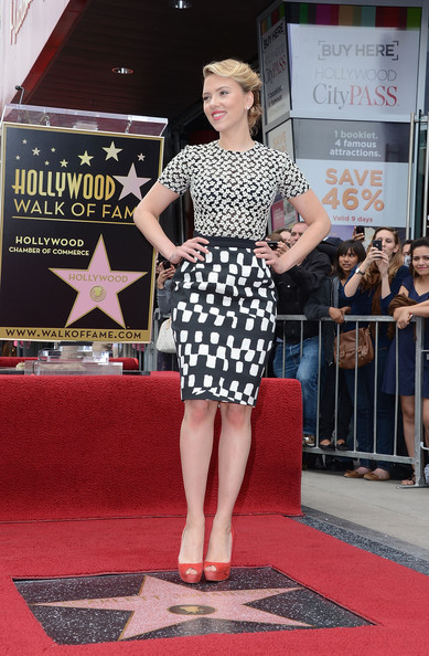 Best Dressed of the Week: Scarlett Johansson in Preen on the Hollywood Walk of Fame