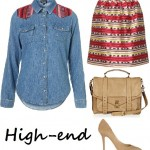 2 ways to wear the classic denim shirt…with an SS'12 twist!